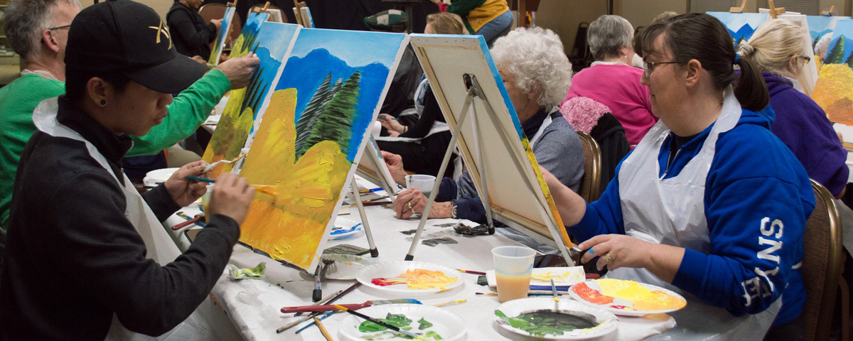 Participants Paint at the Garcia Center