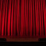 Stage Curtain Before a Performance
