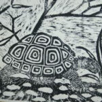 Block Printing of a Turtle From Saturday Class