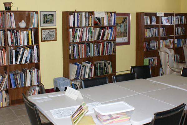 Library Area for Coloring Activity