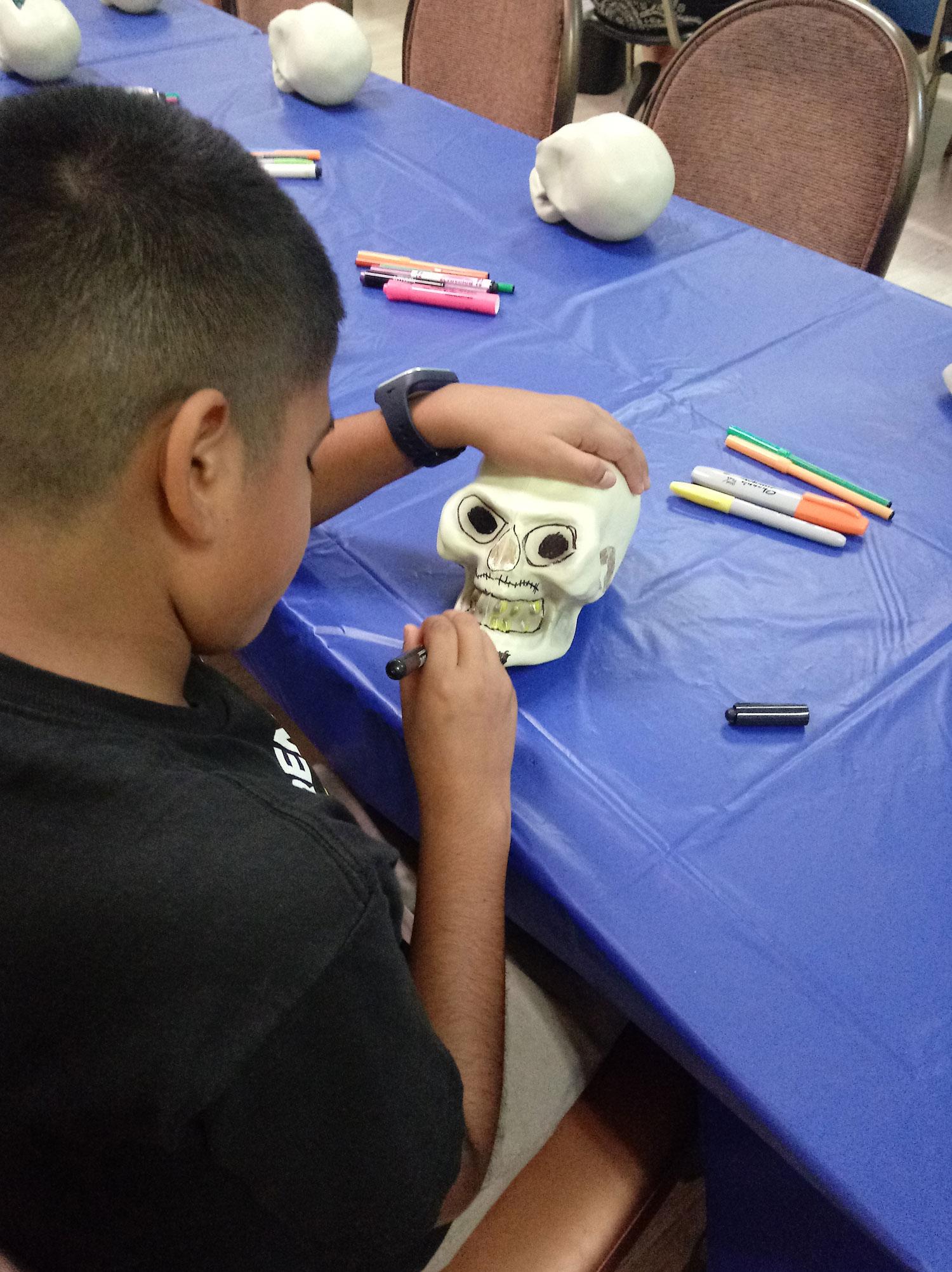 Decorating Skulls