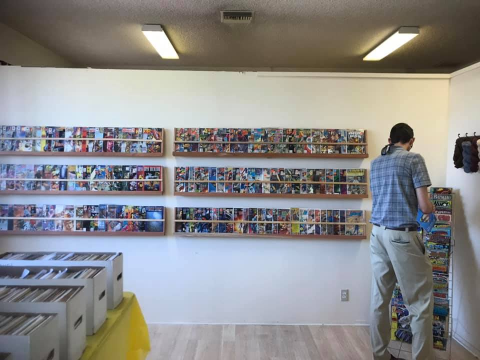 Display Cases Exhibit Donated Comic Book Collection