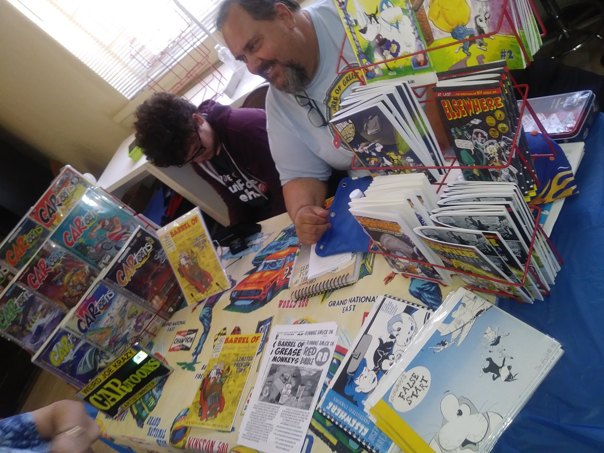 Local Comic Book Artist at the Comic Fest