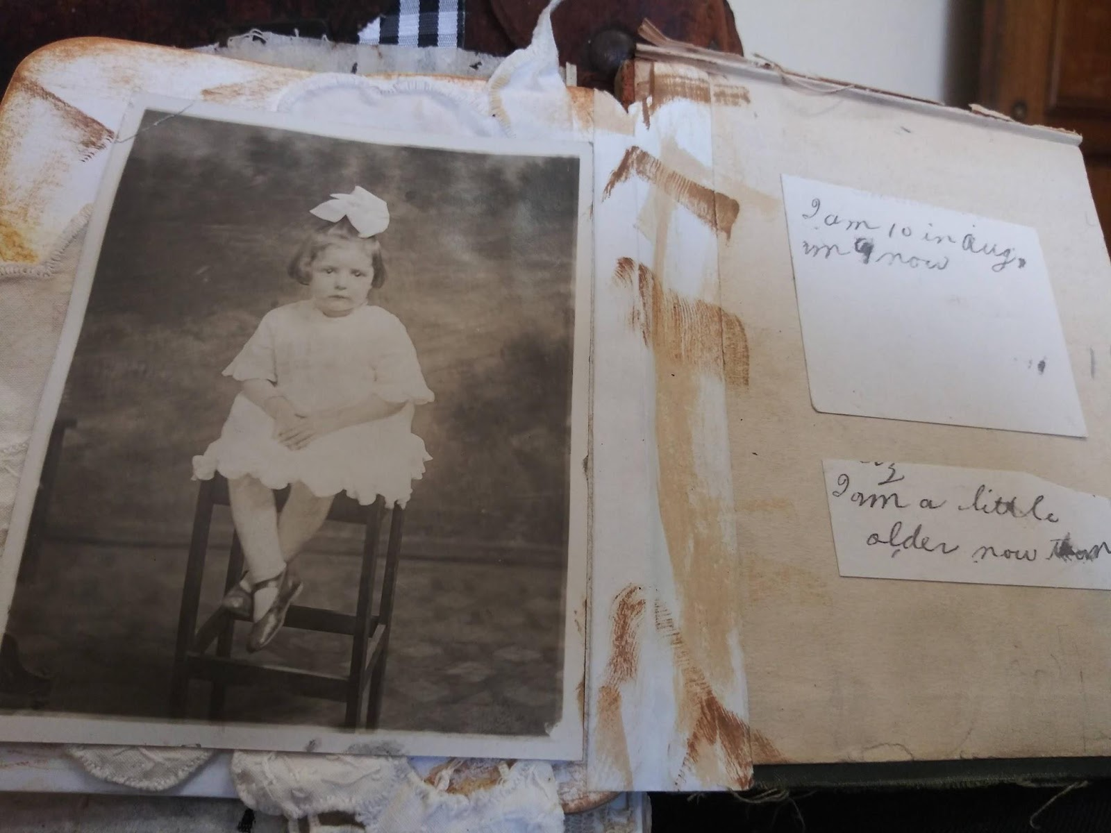 Altered Book with Black and White Photograph