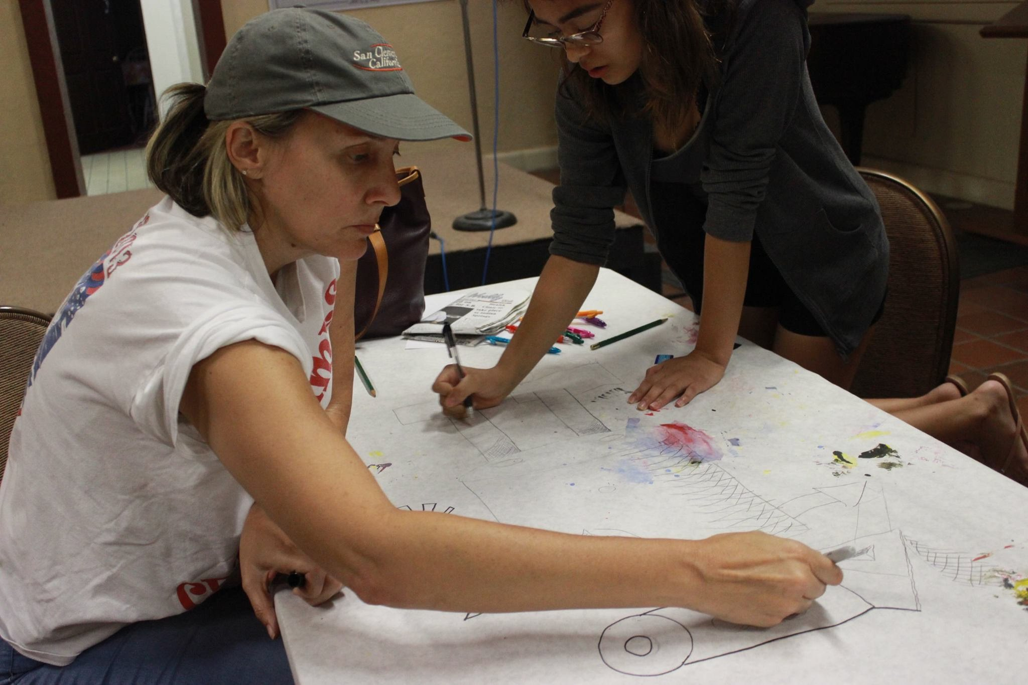 Participants use a Large Surface to Draw