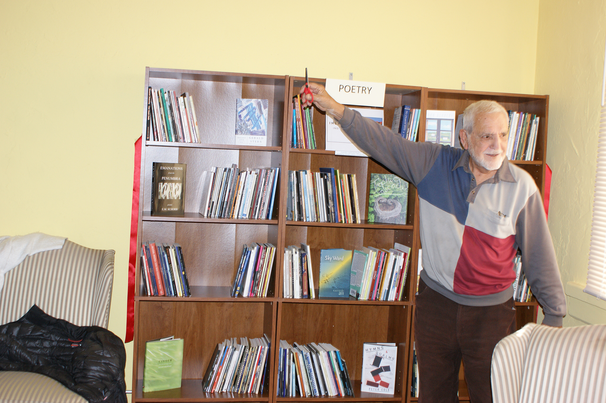 Ernie Garcia Officially Opens the Library