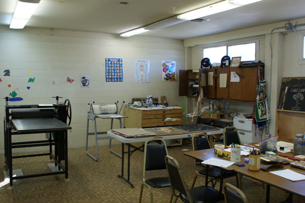 Space Used for Printmaking Classes
