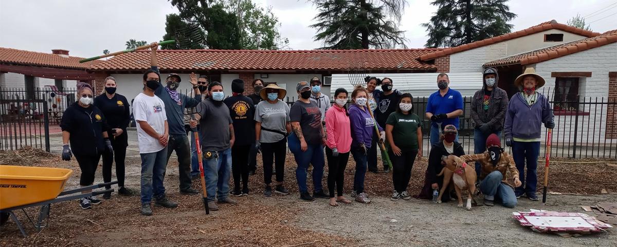 Volunteers at the Garden Ground Breaking