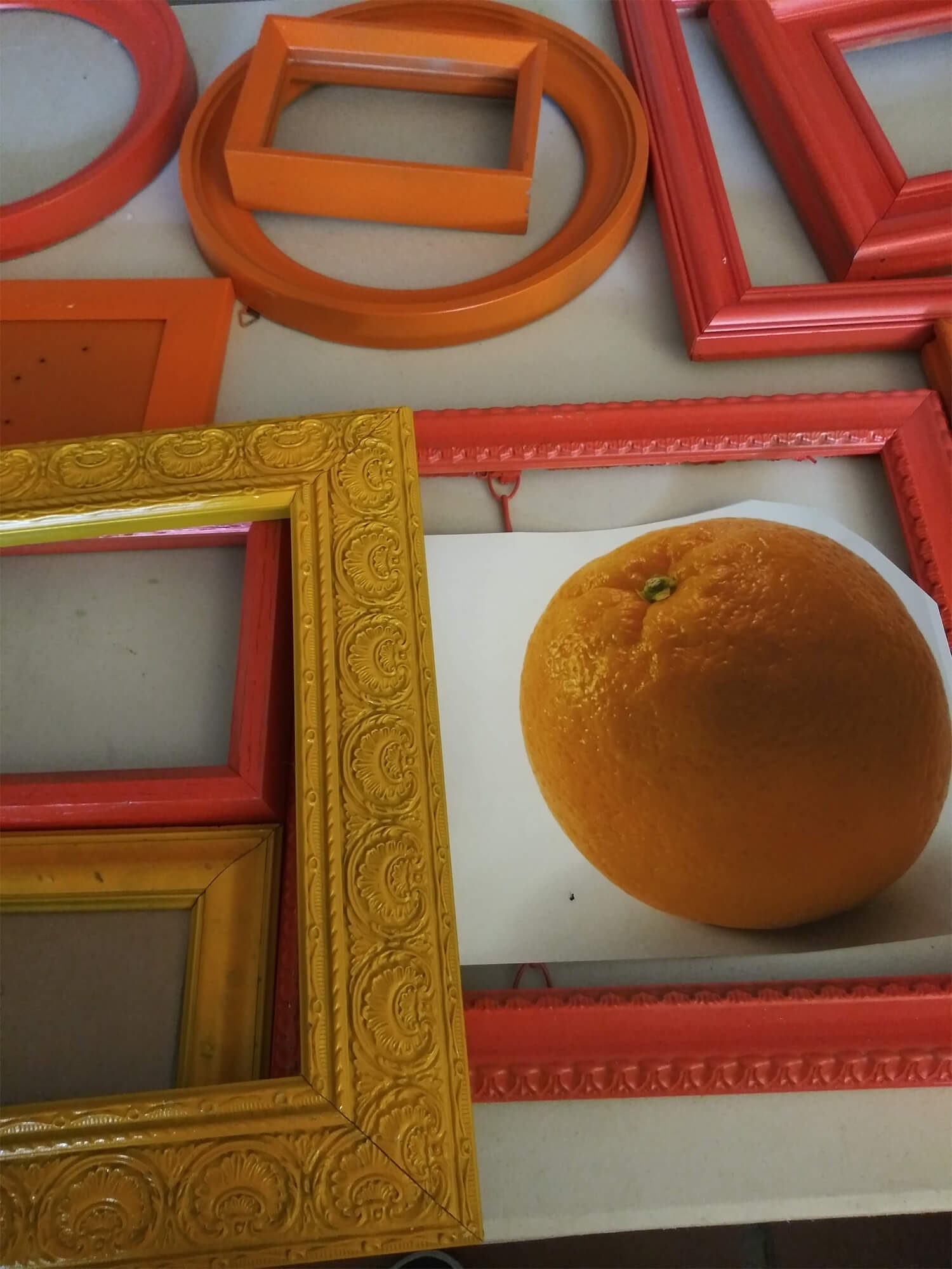 Orange Collage and Frames for Crafts