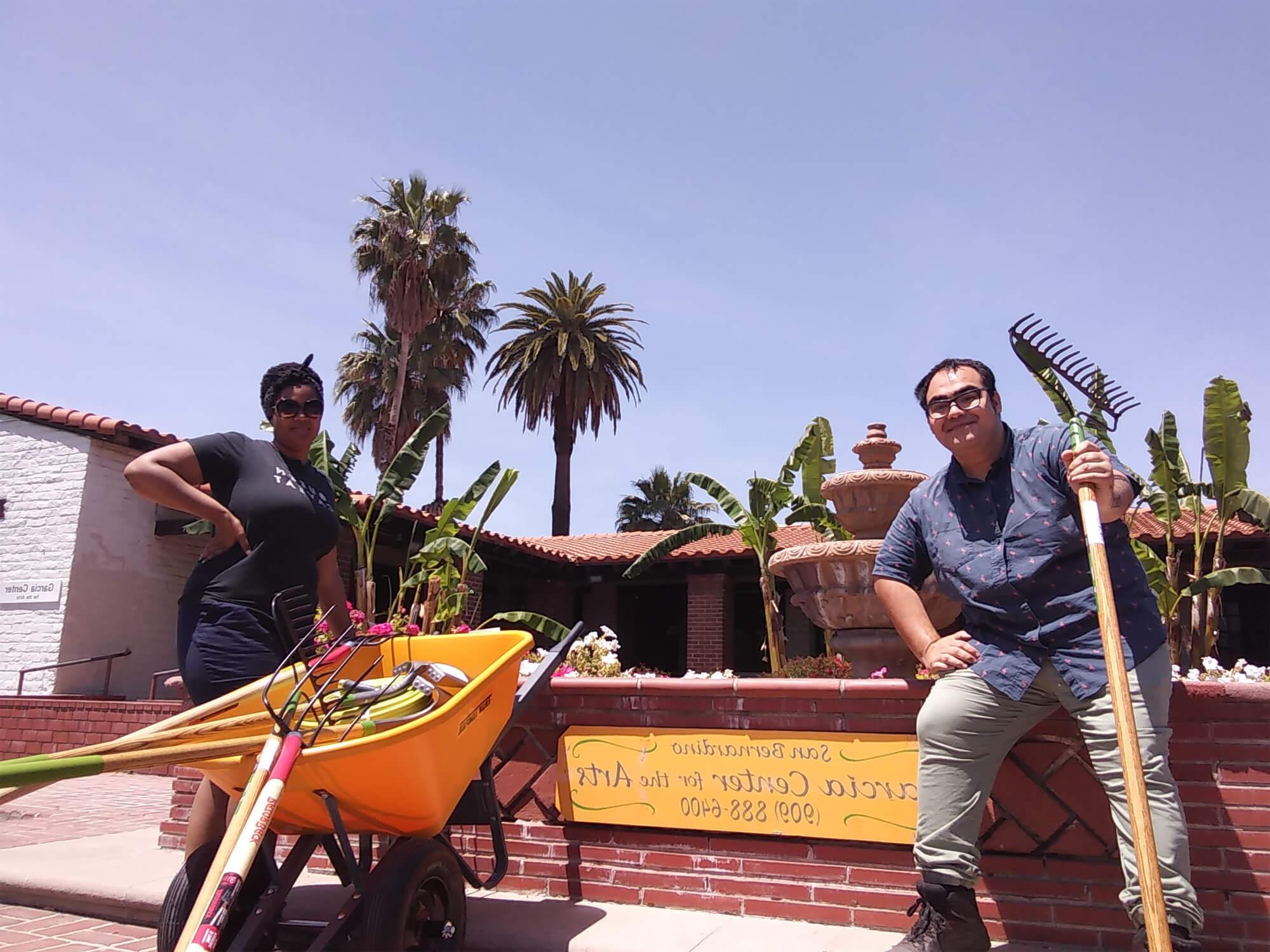 Volunteers Help with Garden