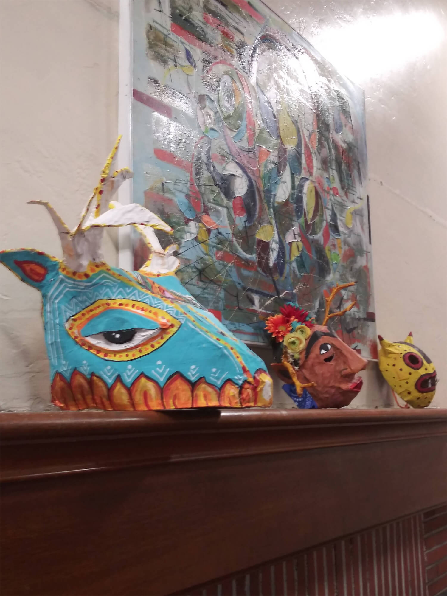 Colorful Masks in the Gallery