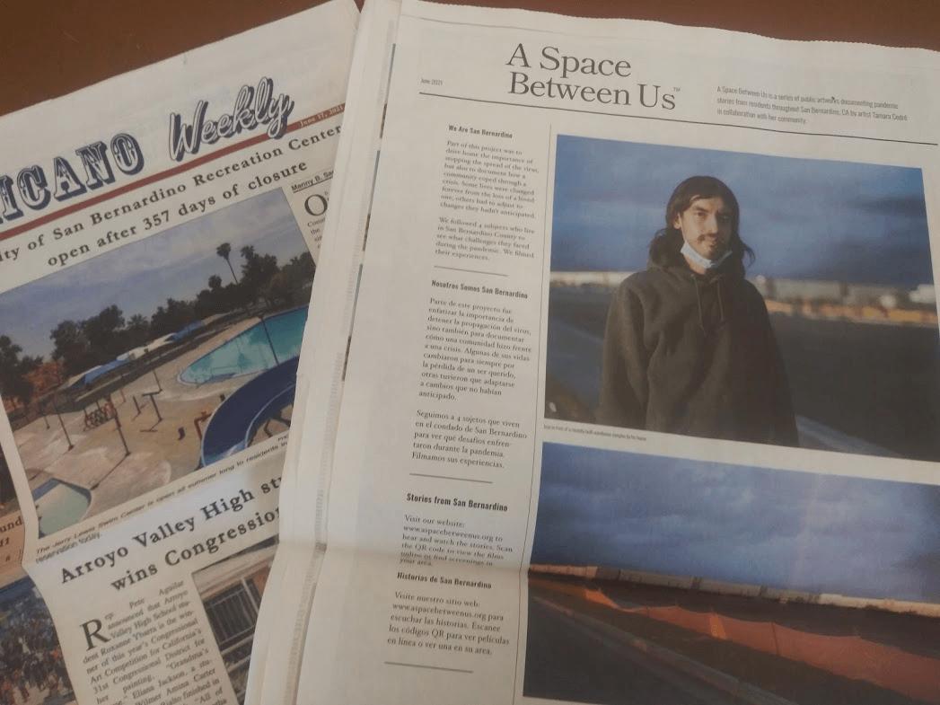 A Space Between Us Newspaper Article