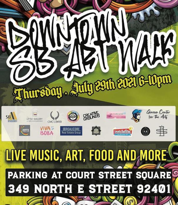 San Bernardino Art Walk Flyer