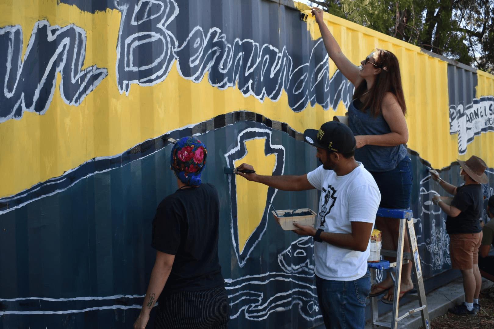 Artists Create San Bernardino Mural