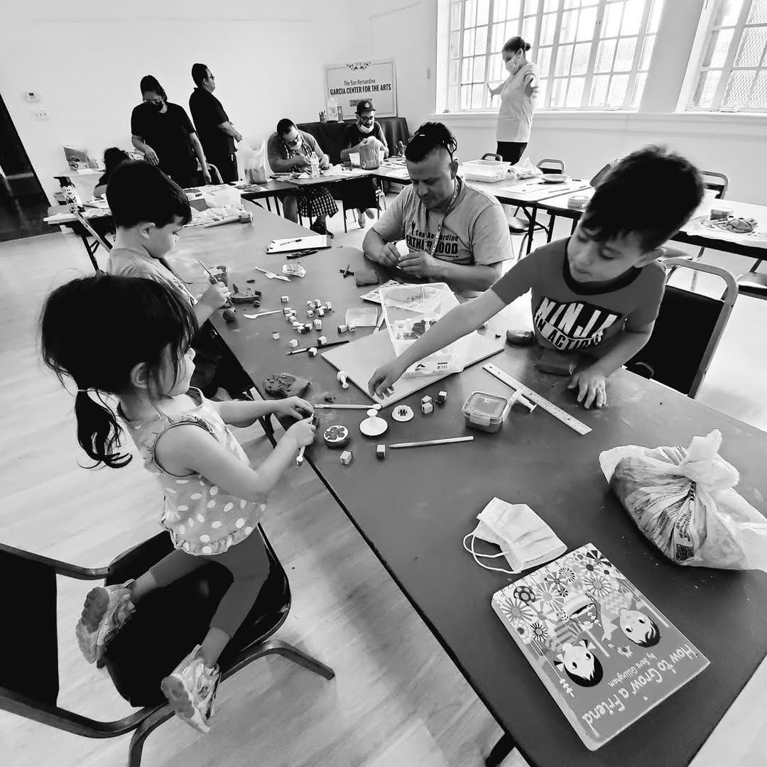Families Attend the Storytelling with Clay Workshop